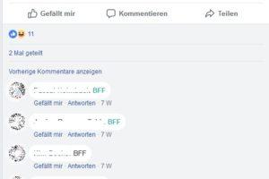"""Facebook-Kettenbrief: """"Schreibe hier BFF und …"""""""