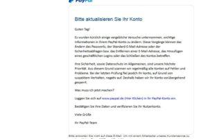 """Achtung, PayPal-Phishing: """"einige vergebliche Versuche"""""""