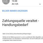 """Amazon-Phishing: """"Zahlungsquelle veraltet – Handlungsbedarf"""""""