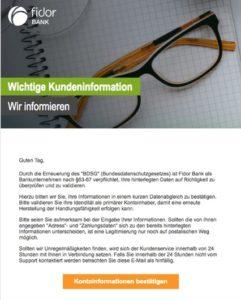 Fidor-Phishing (Screenshot)