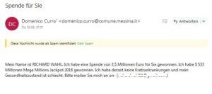 Scam (Screenshot)