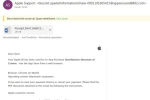 Apple-Phishing: Bestellung von DomiNations Mountain of Crowns