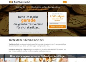 Bitcoin Code (Screenshot)
