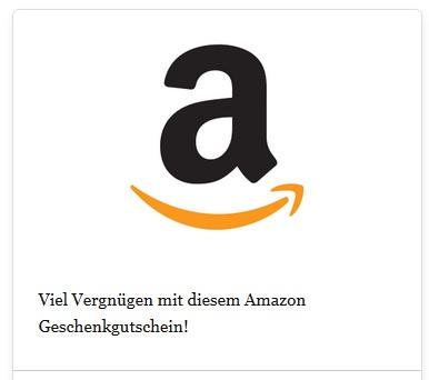 So kann ein echter Amazon-Gutschein aussehen (Screenshot: amazon.de)