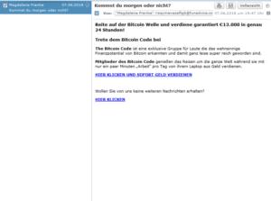 Reite auf der Bitcoin Welle und verdiene garantiert (Screenshot)