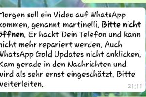 """WhatsApp-Hoax: """"Morgen soll ein Video auf WhatsApp kommen"""""""