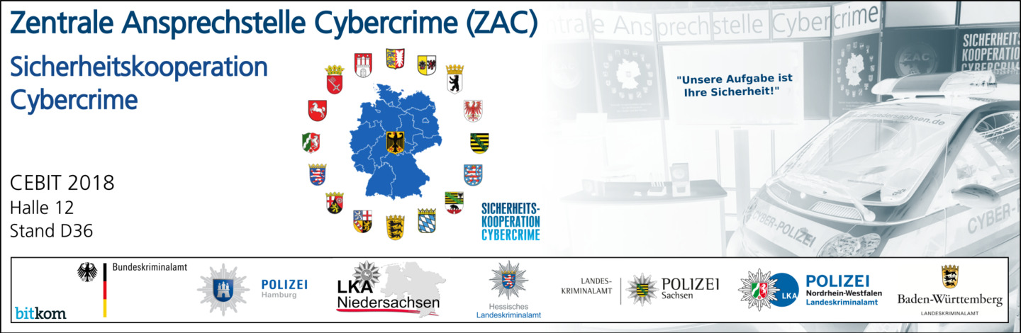 """Cybercrime"" auf der CEBIT 2018 (Screenshot: polizei-praevention.de)"
