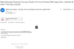 Achtung, Apple-Phishing: Bestellung von FIFA Points