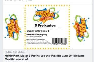 Fake oder nicht? 5 Heide-Park-Freikarten pro Familie?