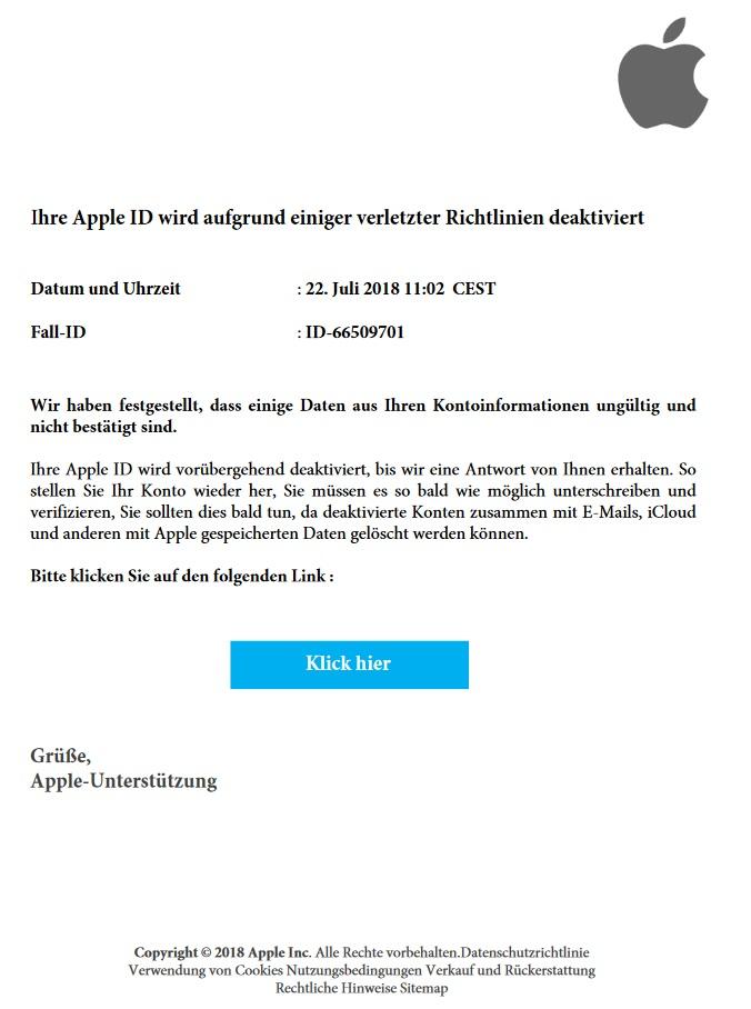 Wieder mal Apple-Phishing: Benachrichtigung für neue Nachrichten ...
