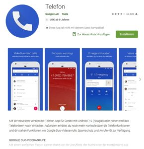 Telefon-App von Google (Screenshot Google Play)