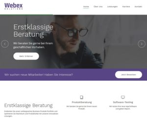 Bewerbung bei webex-solutions.at lockt in die Falle (Screenshot)