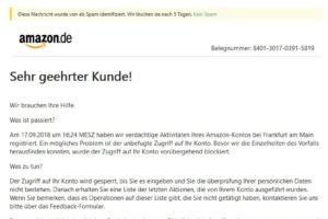 """Amazon-Phishing: """"Wir brauchen Ihre Hilfe."""""""