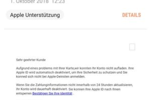 Apple-Phishing: Apple deaktiviert