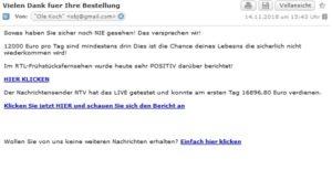 BitCoin-Betrug (Screenshot)