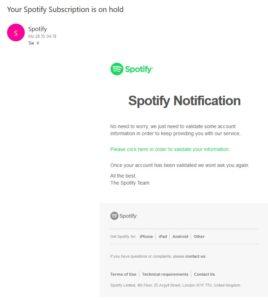 Spotify-Phishing (Screenshot)