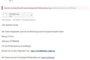 "Achtung, T-Online-Phishing: ""Rechnung zweimal doppelt bezahlt…"""