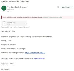 T-online-Phishing (Screenshot)