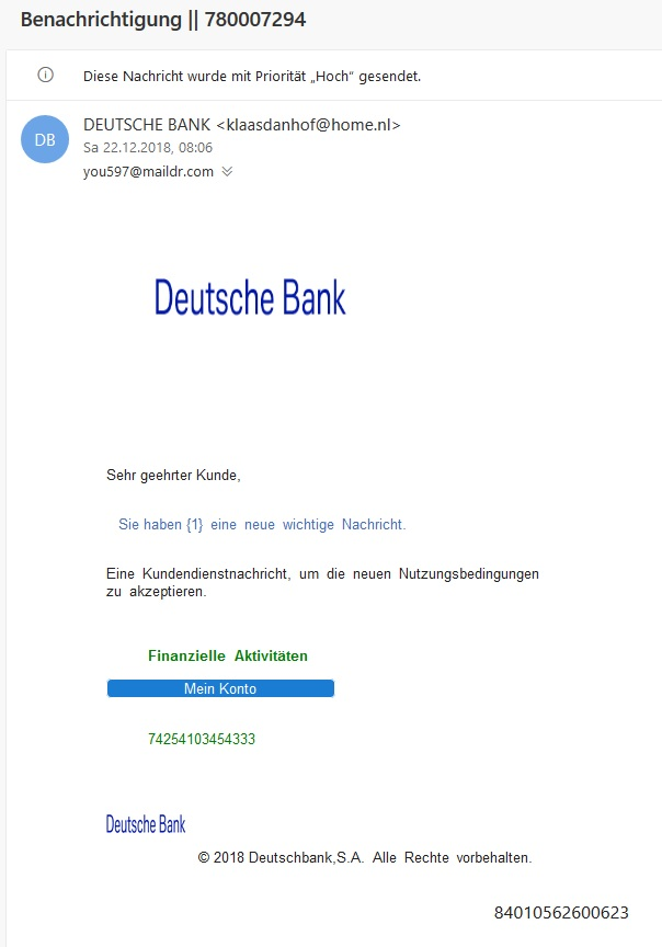 Deutsche-Bank-Phishing (Screenshot)