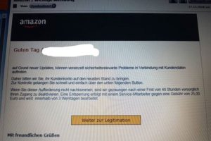 "Amazon-Phishing: ""Auf Grund neuer Updates…"""