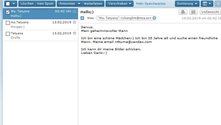 Love Scam von Tatyana (Screenshot)