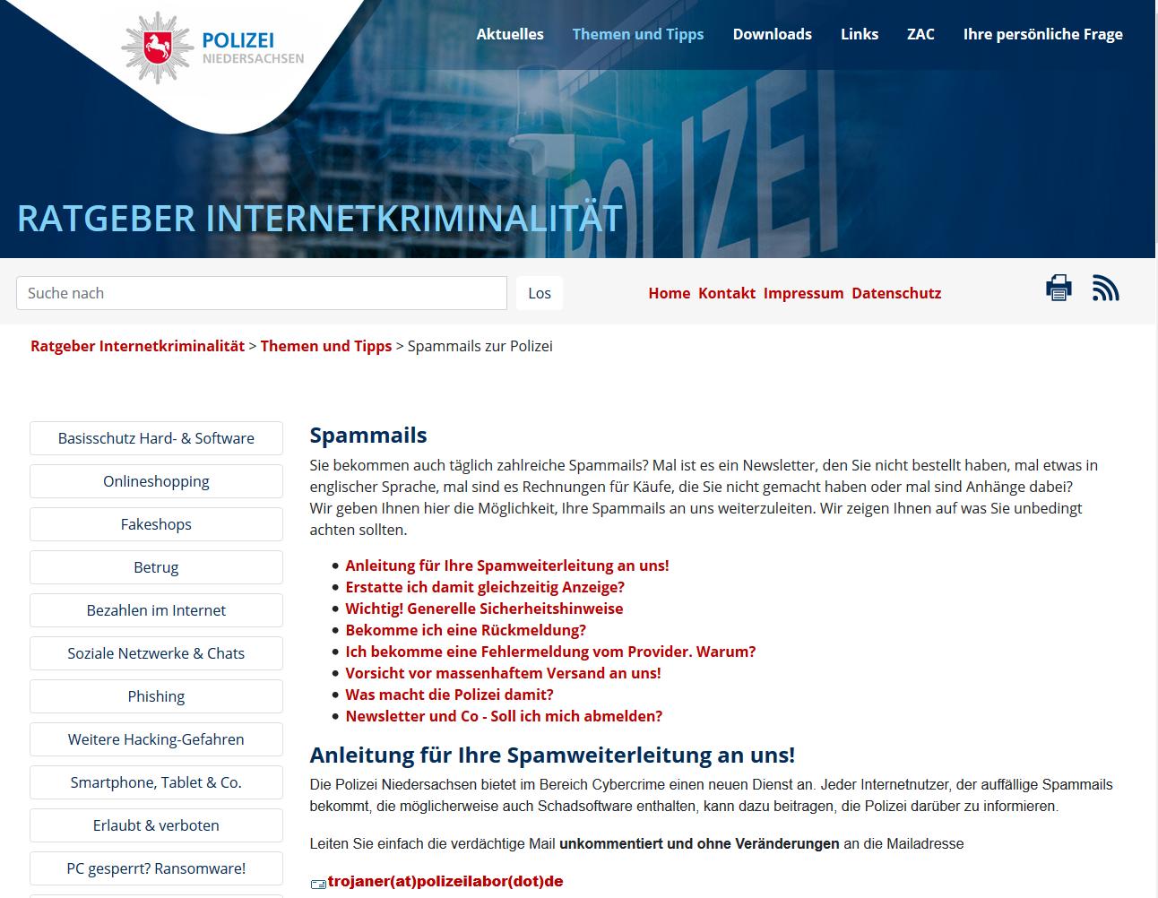 Präventionsdienst Polizei (Screenshot polizei-praevention.de)