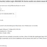 Achtung, Apple-Phishing: [Neue Anmeldeversuche] Letzte Login-Aktivität!