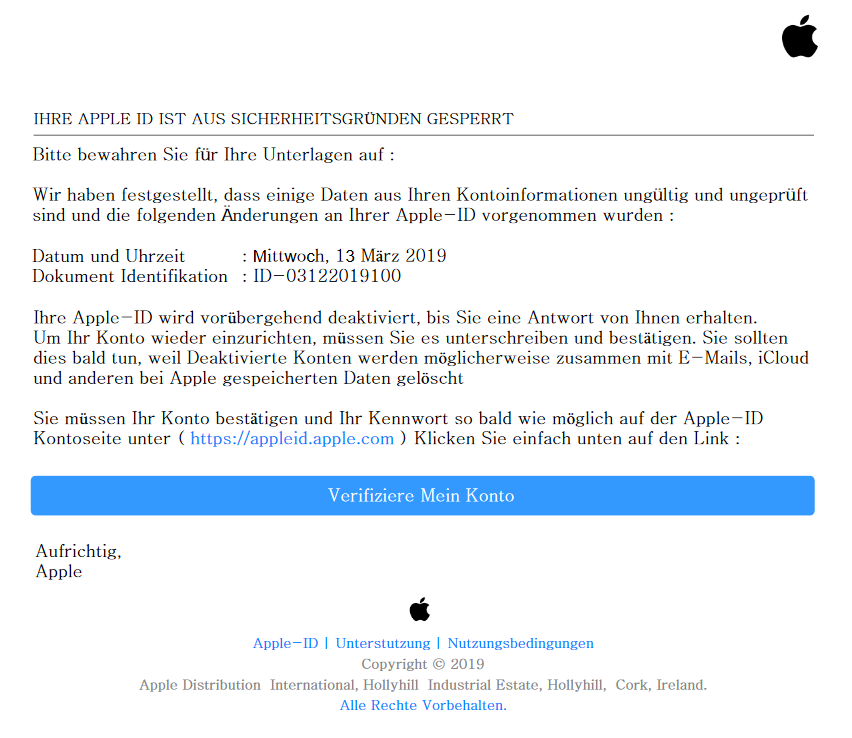 Apple-Phishing-Anhang (Screenshot)