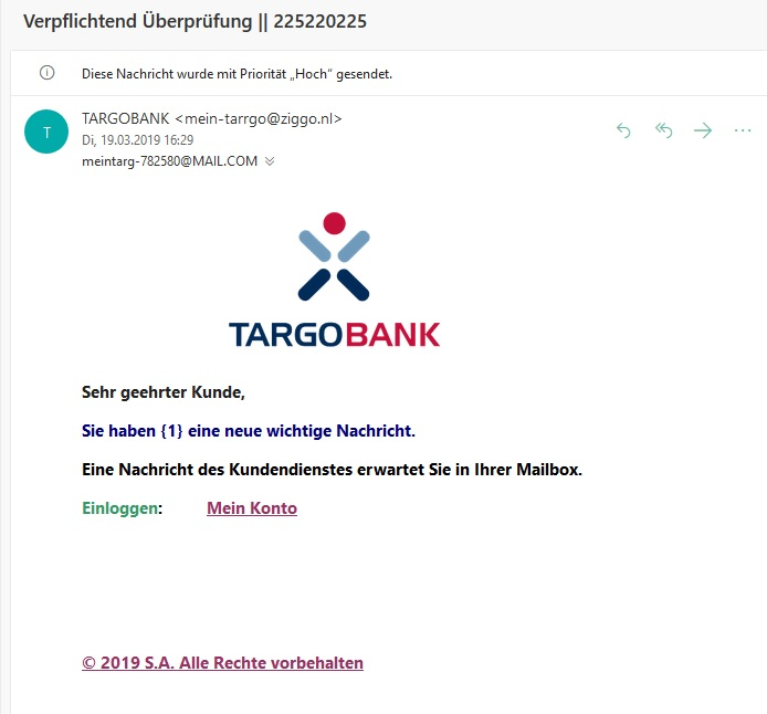 Targobank-Phishing (Screenshot)