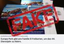 Europa-Park-Freikarten sind ein Fake! (Europa-Park Fans/Facebook)