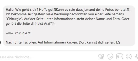 Gefährliche Facebook-Nachricht (Screenshot)