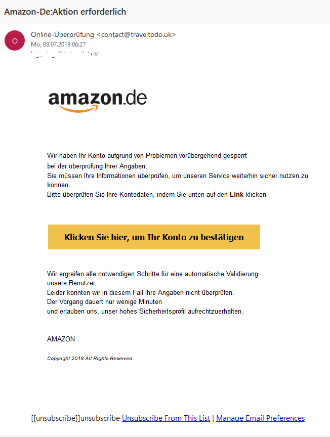 Amazon-Phishing (Screenshot)