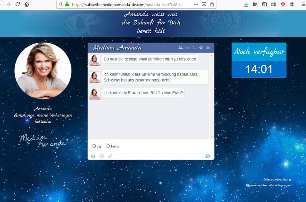 Medium Amanda Chat (Screenshot)