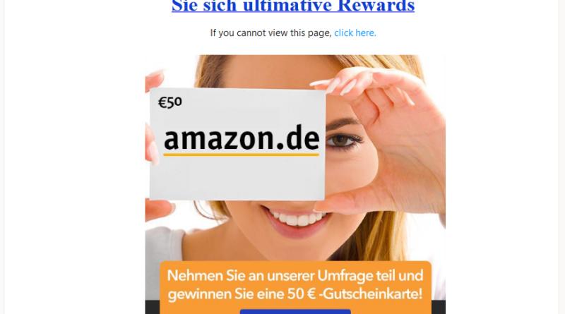 Amazon Rewards Connector: Datensammler (Screenshot)