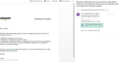 """Amazon-Phishing: """"Abbrechen: Die folgende Bestellung"""" (Screenshot)"""