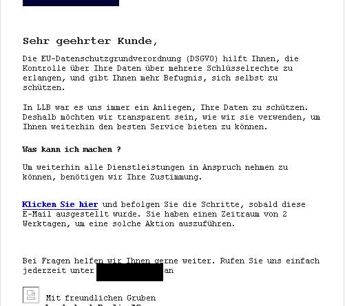 LBB-Phishing (Screenshot: Verbraucherzentrale NRW)