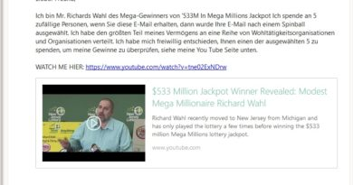 Vorschussbetrug mit YouTube-Video (Screenshot)
