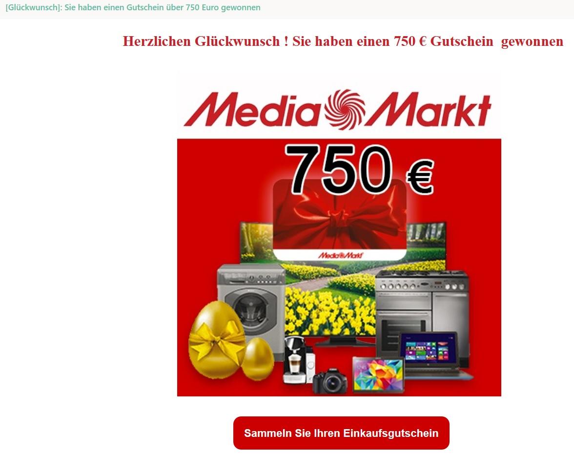 Media Markt Gutschein Gewonnen