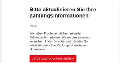 Netflix-Phishing: Ihr Konto ist gesperrt. (Screenshot)