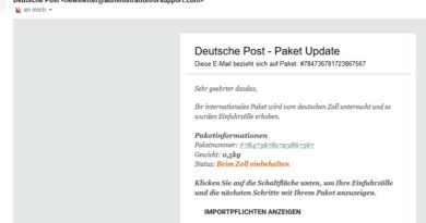 Angebliches Paket Update (Screenshot)