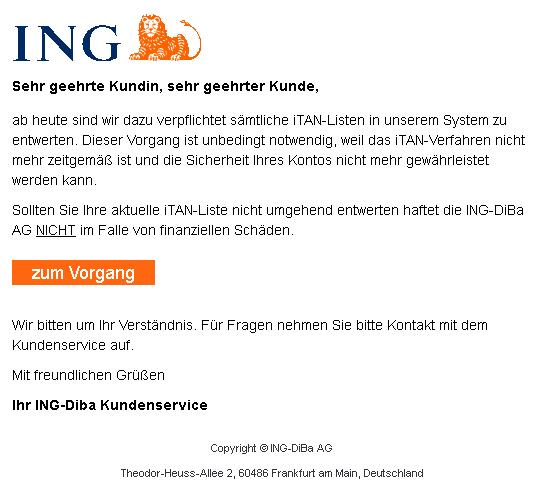 ING-Phishing Entwertung der iTAN-Listen (Foto: Verbraucherzentrale NRW)