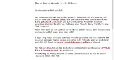bitcoinxprofit-Spammail (Screenshot)