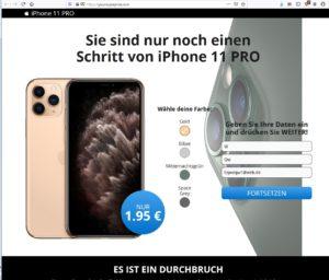 CityExpress-Fake Abofalle Dateneingabe (Screenshot)