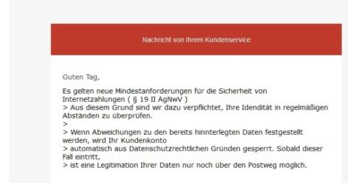Amazon-Phishing - Sicherheit von Internetzahlungen (Screenshot)