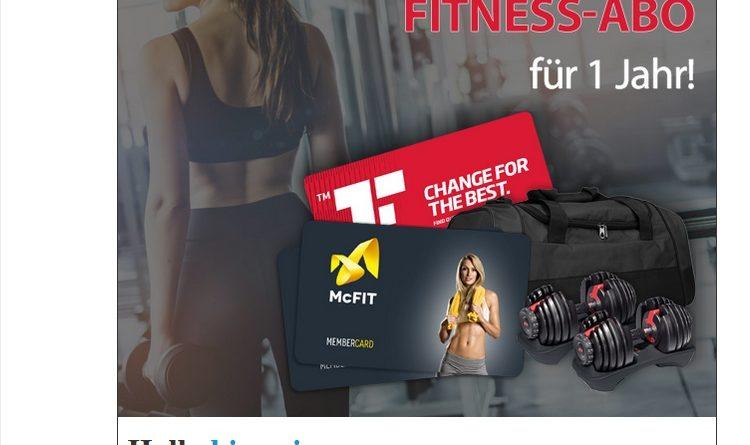 Fitness-Abo-Gewinnspiel für 1 Jahr (Screenshot)