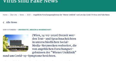 "Coronavirus Fake-News: ""Ibuprofen verschlimmert COVID-19"" (Screenshot meduniwien.ac.at)"