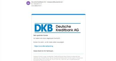 Deutsche Kreditbank AG Phishing -Achtung! (Screenshot)