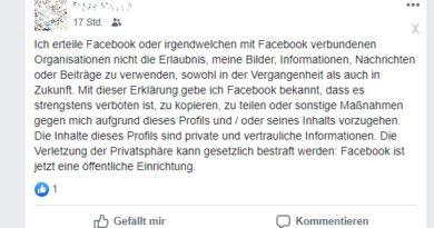 """""""Facebook-Hoax: """"Facebook ist jetzt eine öffentliche Einrichtung"""" - Was ist dran? (Screenshot)"""