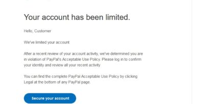 "PayPal-Phishing: ""We've limited your account"" (Screenshot)"