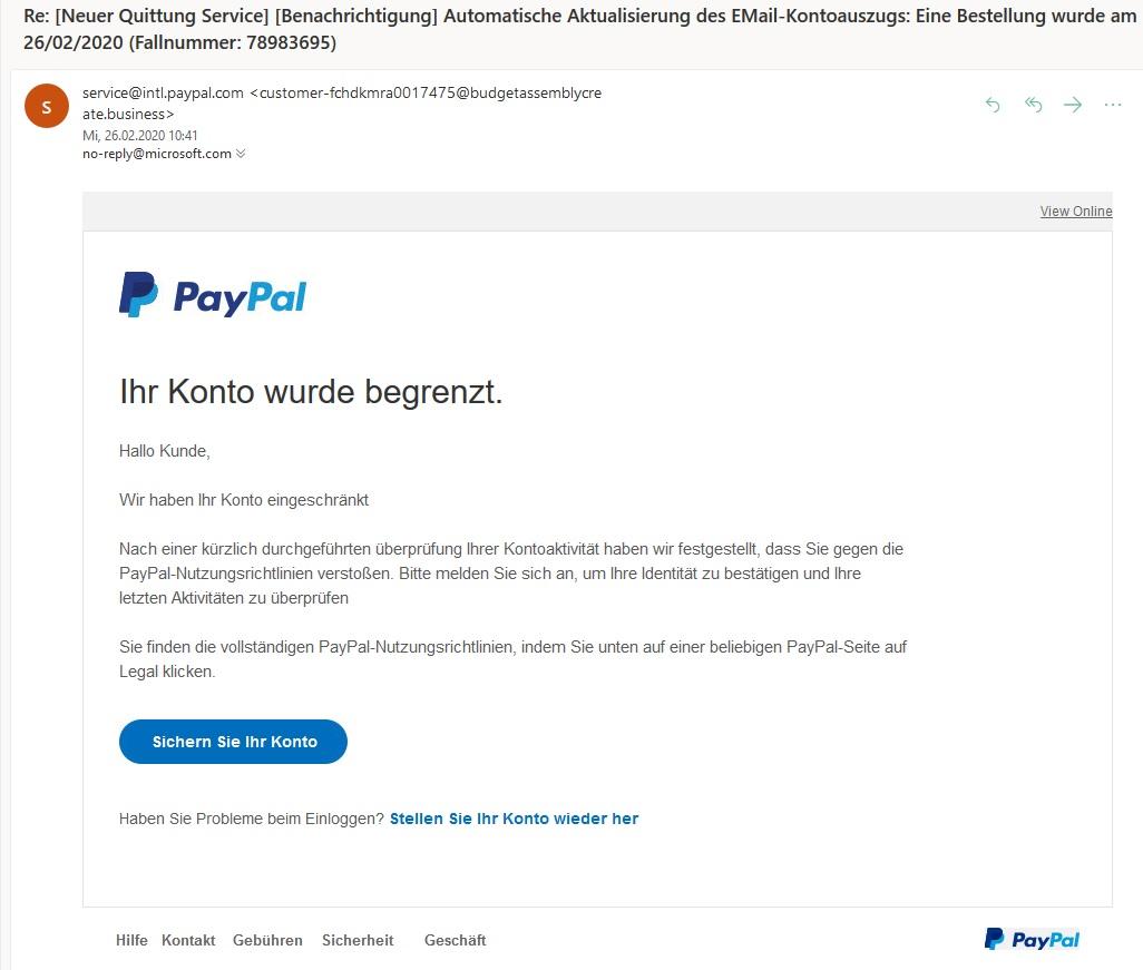 Pishing Paypal